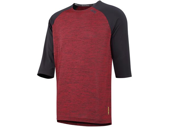 IXS Carve X 3/4 Jersey Men night red/black